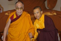 HH the Dalai Lama with young Sakyong Mipham. Courtesy Centre East Media.